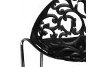 Lot de 4 chaises Venise Noir