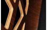 """Tabouret """"New Delhi"""" détail assise en bois, Esprit Loft"""
